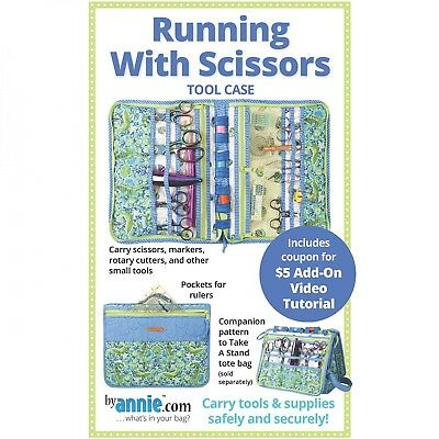 RUNNING WITH SCISSORS Sewing Tool Case Pattern by Annie.com