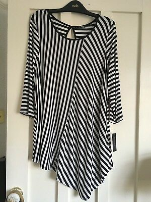7b47ab4c059 Bnwt Ladies Black white Striped Long Sleeved Top From Tk Maxx Size 1X