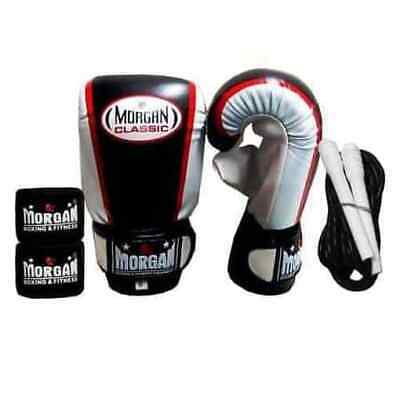 Morgan Starter Pack Training Pack Bag Mitts Skipping Rope Hand Wraps