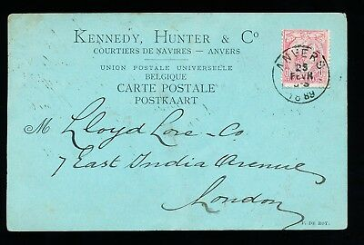 Belgian Postcard with perfin stamp KH&Co (324