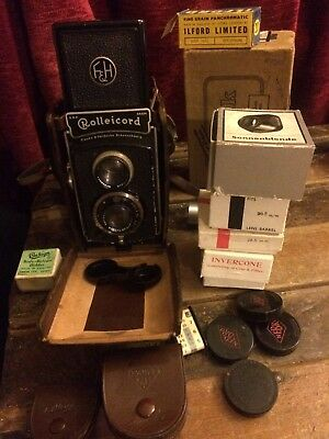 Rolleicord With Zeiss Tessar Compur  Full Accessories, Amazing Time Capsule