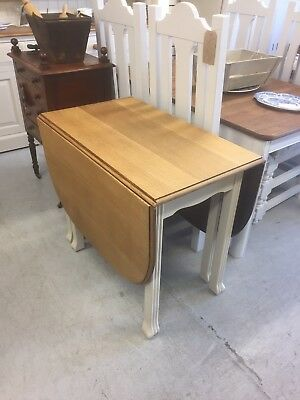 Victorian Antique Oak Extending Dining Table,Painted,Kent Furniture Showroom.