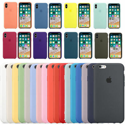 Original Silicone Leather Case For iPhone XS Max XR 6 7 8 Plus X Genuine Cover