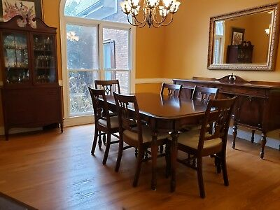 Antique Dining Room Set - Rare Sheraton/Hepplewhite Style (early 1900's)