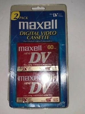 Maxell ME Mini DV 60 Min Camcorder Twin Pack  Cassette Tapes New