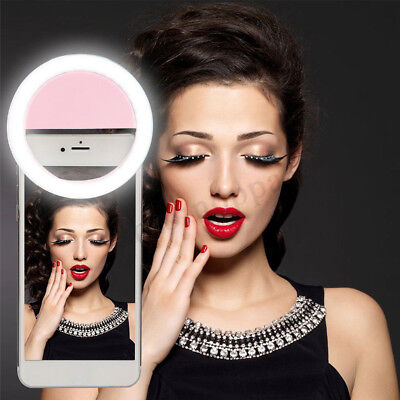 Selfie Portable LED Ring Fill Light Camera Photography For iPhone Cell Phone