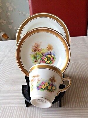 H & M Sutherland Woodland Dell Bone China Trio