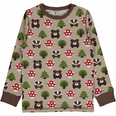 Forest animals organic long sleeve top - Maxomorra 18-24 2 4 5 6 7 8 Christmas