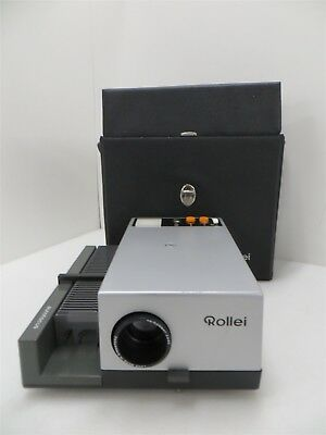 Rollei AutoFocus Slide Projector W/Carry Case*tested+works*Power Cord Not Incl