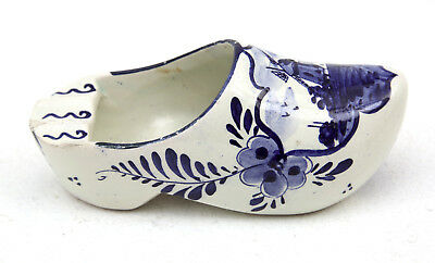 Vintage Delft Blue And White Holland Clog Ashtray 60s