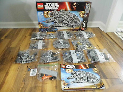 Mixed Lego Lot - Star Wars Millennium Falcon # 75105 Incomplete
