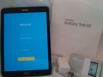 "Samsung Galaxy Tab S2 SM-T813 9.7"" 32GB Wi-Fi Black  store demo"