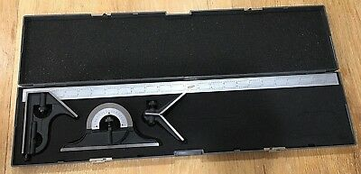"Combination Square Protractor Center Finder iGaging Premium 4-Piece 24"" 4R"