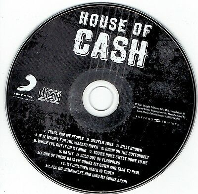 very rare JOHNNY CASH cd titled HOUSE OF CASH (2011) with 12 songs