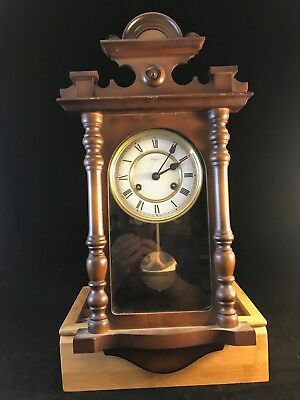 RAPPORT Antique Wall Clock. Restored. Gothic Style. Wind up Motion