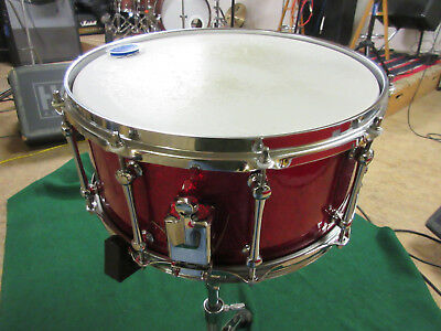 """MAPLE Snare, Custom made 14 x 6,5"""", Red Sparkle"""