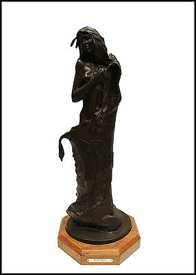 Ken Ottinger Border Captive Bronze Sculpture Signed Native American Female Art