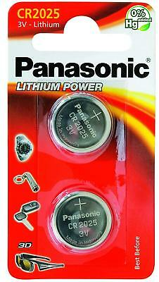 Pack Of 2 Panasonic CR2025 Lithium Coin Cell 3V Battery Car Key Fobs Toys Remote