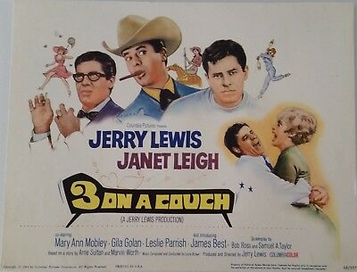 3 on a Couch   title lobby card  tc  1966    Jerry Lewis   Janet Leigh