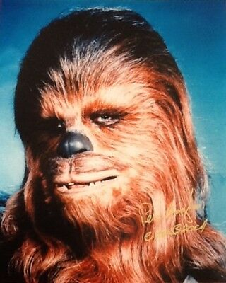 Star Wars signed Peter Mayhew as Chewbacca the Wookiee autograph 10x8 A New Hope
