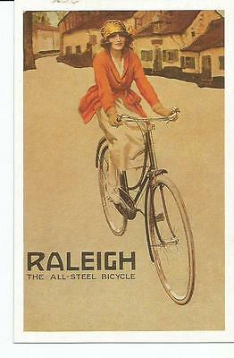 Advertising Postcard, Raleigh All-Steel Bicycle Repro Nostalgia Card