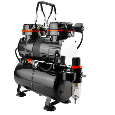 TC90T Airbrush Compressor 3L Tank 2 Switches 1/3 HP High Volume 1 Yr Warranty