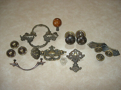 Lot Of 16 Vintage & Antique Drawer Cabinet Pulls/handles