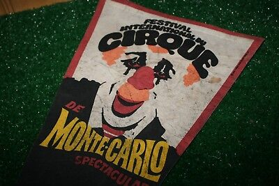 Vintage Festival International Cirque Monte Carlo Spectacular Pennant Clown