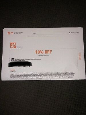 Home Depot 10% Off Discount Coupon In Store Only Up To $200 Off Expires 2/8/19