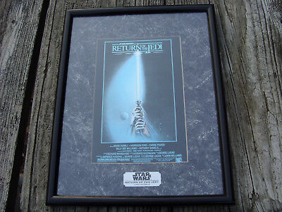 Star Wars Chromart Special Collector's Edition Return Of The Jedi Print COA