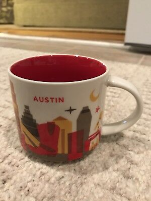 "Starbucks Austin TX City Cup Mug ""You Are Here"" YAH Collection 14 Oz 2016. New!"