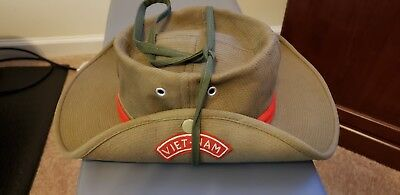 VIETNAM ERA AUTHENTIC BOONIE JUNGLE HAT...SEWN IN-COUNTRY...LATE 1960s