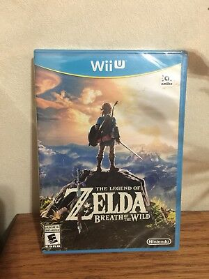 The Legend of Zelda: Breath of the Wild (Nintendo Wii U, 2017) Factory Sealed!