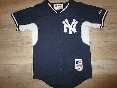New York Yankees MLB majestic Jersey Youth S 8 child