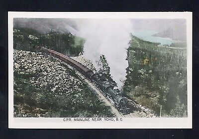 RPPC CPR Mainline railroad Yoho B.C. BC British Columbia CANADA photo postcard