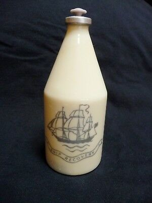 Vintage Early 1950's Old Spice Cologne 4-3/4 oz Wheaton Glass Bottle