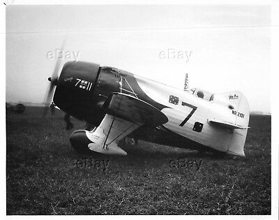 Vintage Aircraft Photo Nr2101 Springfield Air Racing Assn Gee Bee Racer R-1 Sara