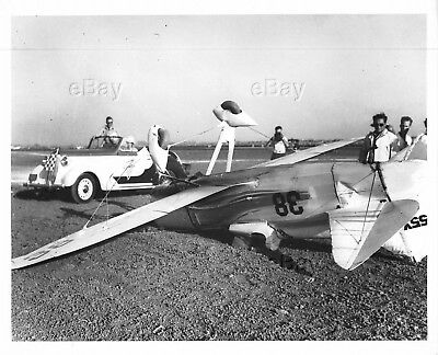 Vintage Aircraft Photo Nr55Y #38 Mike Dga-4 Howard Air Racer Crashed Wreck Crash