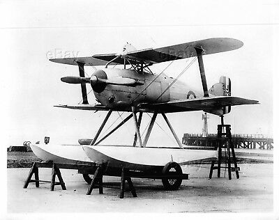 Vintage Aircraft Photo J7234 Gloster Schneider Training Float Seaplane Mars I