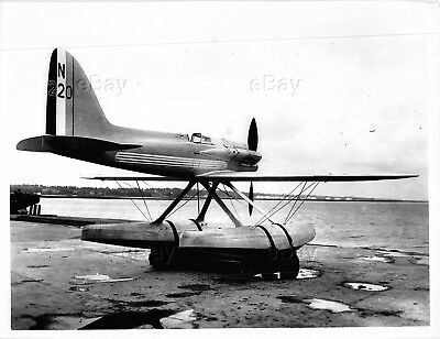Vintage Aircraft Photo N220 Supermarine S.5 Racing Seaplane Floatplane Racing S5