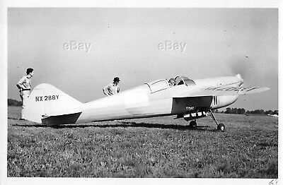 Vintage Aircraft Photo Nx288Y Folkerts Sk-4 Racer Racing Plane Airplane Clayton