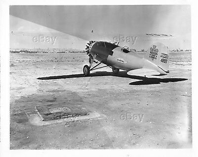 Vintage Aircraft Photo Lockheed Us Air Mail Western 3 Express Vega 4897 Airplane