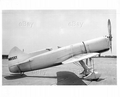 Vintage Aircraft Photo Nr55Y Mike Dga-4 Ben Howard Air Racer Racing Plane Pilot