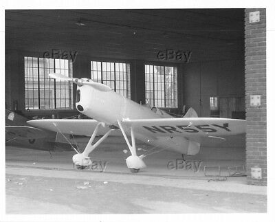 Vintage Aircraft Photo Nr55Y Mike Dga-4 Ben Howard Air Racer Racing Plane Hanger
