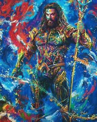 Blend Cota Jason Momoa Aquaman 14 x 11 Art Print