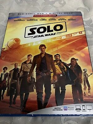 Solo A Star Wars Story Blu Ray 2018 2-Disc Movie Disney Glover Digital Code copy