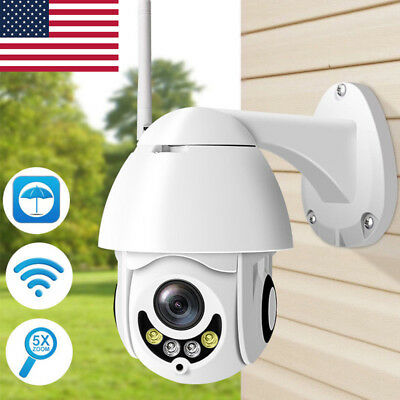 1080P 2MP Full Color IP Camera PTZ Wifi 5X Zoom Outdoor Waterproof Wireless