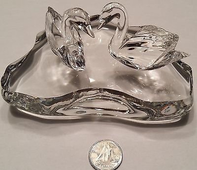 1994 Lenox Crystal Swans and Pond
