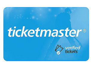 Ticketmaster Gift Cards in $25.00 amount / Ecards too!