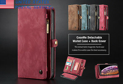 Luxury Magnet Flip Wallet Leather Pouch Purse Case Cover For iphone XS Max XR